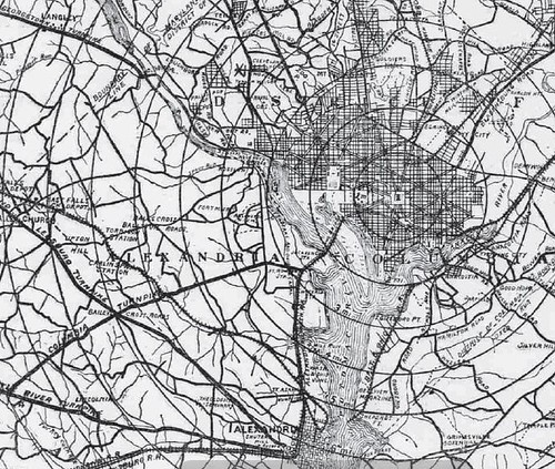 Bicycle Map, 1896 (Detail)