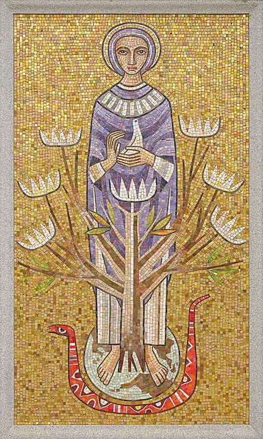 Resurrection Cemetery, in Affton, Missouri, USA - mosaic of the Blessed Virgin Mary