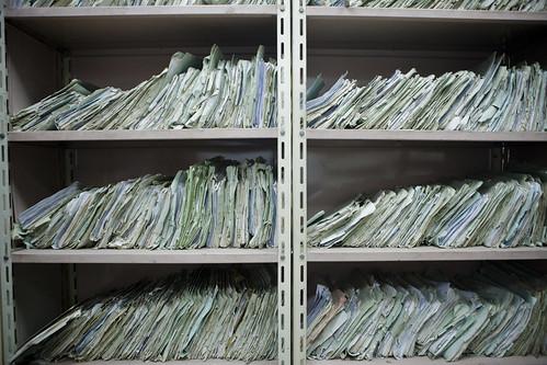 غرفة الأرشيف في مقر أمن الدولة بمدينة نصر: تقارير عن المواطنين والنشطاء