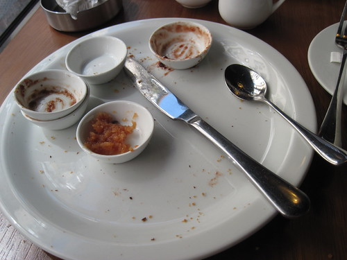 Plate of Toast and Jam at Cow and Apple