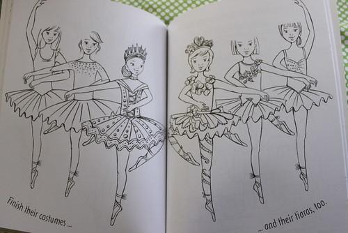 Dancing doodles ballerina page