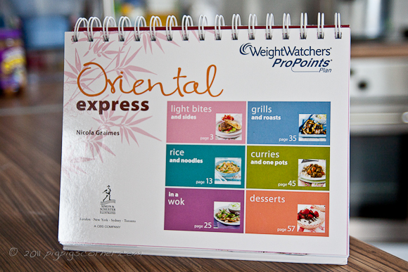 Weight Watchers Oriental Express recipe book 2