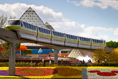 Epcot - Monorail Lime (Jeff Krause Photography) Tags: flower festival garden epcot disney imagination lime monorail wdw 2011