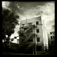 The Haunted Hospital #04 (genshi) Tags: hauntedhospital iphone4 johnslens iphoneography hipstamatic claunch72monochromefilm