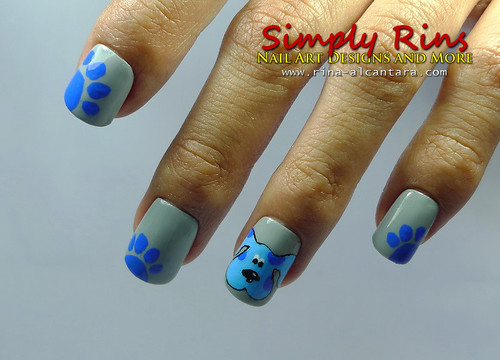 Nail Art Blues Clues 03