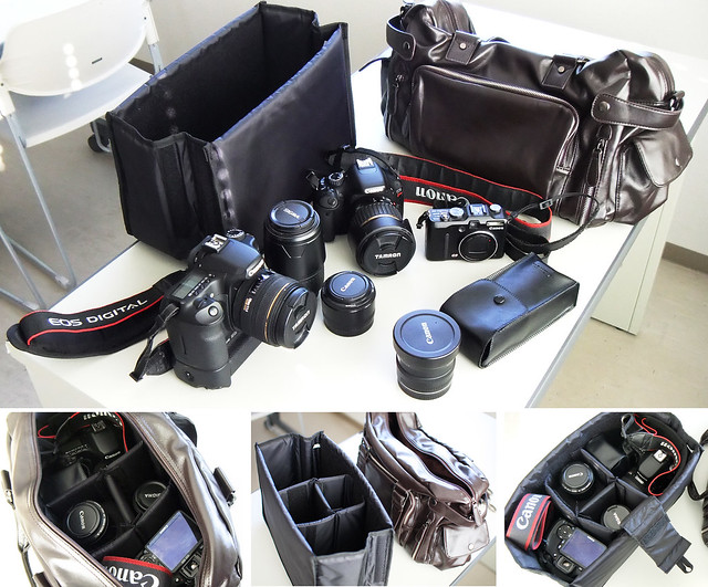 fashionable camera bag + manbag