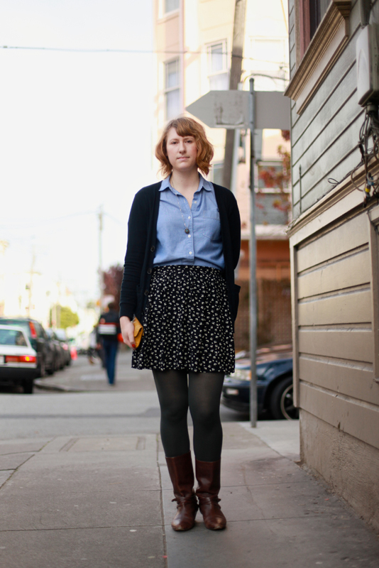chambray - san francisco street fashion style