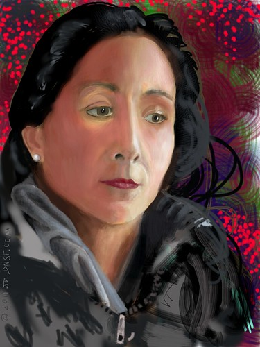 iPad Portrait of Vanessa Tiegs by DNSF David Newman