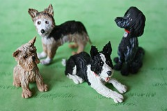 Woof, woof ! (abbietabbie) Tags: wedding dogs cake handmade models polymerclay bordercollie cockerspaniel toppers cairnterrier bordercolliesheltiecross