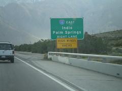 End CA-62 Approaching I-10 (sagebrushgis) Tags: california sign i10 interchange riversidecounty highwinds interstatehighway biggreensign ca62 californiastatehighway