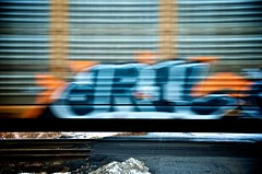 dRIL (lynn.h.armstrong) Tags: road camera blue winter orange brown white snow ontario canada black art grass lines horizontal wales train lens geotagged photography graffiti photo moving interesting mac aperture nikon long flickr crossing zoom pavement south tracks railway dirty lynn h nikkor armstrong stormont vr afs gettyimages dx sault ingleside 2011 ifed 18200mm f3556 dril attributionnoderivs vrii d7000 ccbynd lynnharmstrong requesttolicence