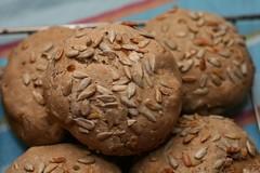 Mslibrtchen mit Sauerteig (Katrin Gilger) Tags: food bread frchte brtchen msli sauerteig