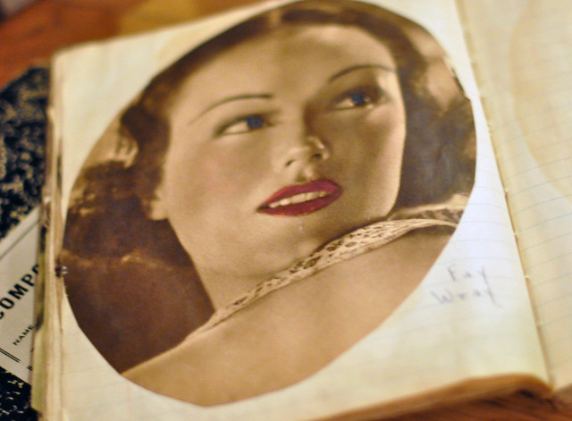 scrapbooks from the 1930's, Old Hollywood Movie Stars, old magazines, magazines from the 1930's, DSC_0403