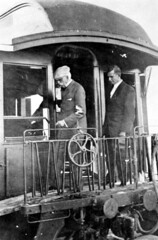 Henry Flagler disembarking train at Key West