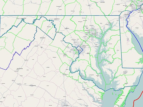 Maryland Boundaries - 2011-03-16