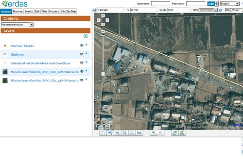 ERDAS APOLLO Client - Post-Japan 9.0 Earthquake and Tsunami Images