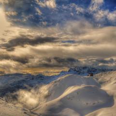 dolomiti (rinogas) Tags: italy snow clouds nikon unesco hdr dolomiti bolzano dolomitisuperski valbadia corvarainbadia rinogas fleursetpaysages llitedespaysages