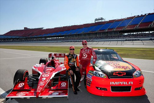 Jamie McMurray and Scott Dixon at Talladega
