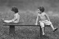 Friendship... (Cassano, A.) Tags: boy bw baby girl children dof child friendship pb amizade criana crianas menina menino d5000