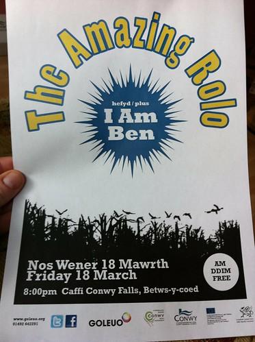 Welsh Gig Poster