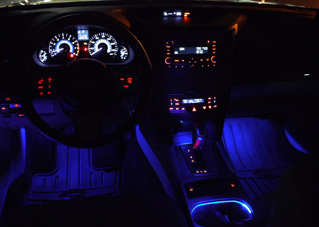 Pics Of Interior Lighting Kit Illuminated Side Sill Plates Amp Puddle Lights Page 5 Subaru