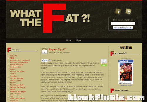 WhatTheFat.net WordPress theme designed by blankPixels - blankpixels.com