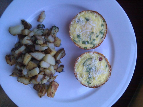 Sun-ripened Tomato Quiche with Dilled Hashbrowns