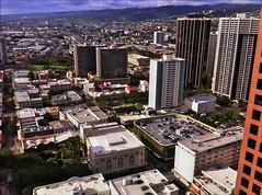 Downtown Honolulu (billsoPHOTO) Tags: urban usa mobile skyline hawaii downtown unitedstates oahu indigo marks honolulu hdr iphone hawaiitheatre downttown marksgarage iphone4 truehdr iphoneography geotaggedhawaii