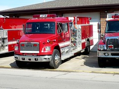 Elk 11-2 (railnut19) Tags: rescue truck fire michigan first rig pierce elk peck township pumper freightliner responder