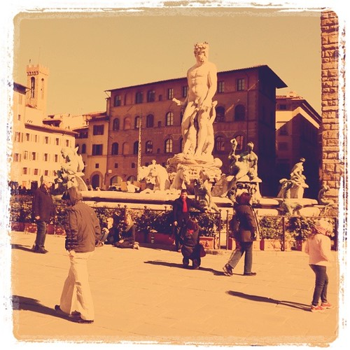 Vintage fountain in Signoria square