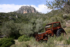the lost tractor (Marlis1) Tags: tractor spain catalunya montes elsports marlis1 wrecksruins covaltacanyon