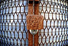Skull & Crossbones (Wires In The Walls) Tags: skull gate connecticut welding padlock crossbones ansonia allthingsrusty