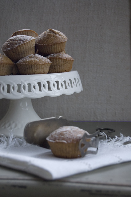 muffin banana, noci e cacao