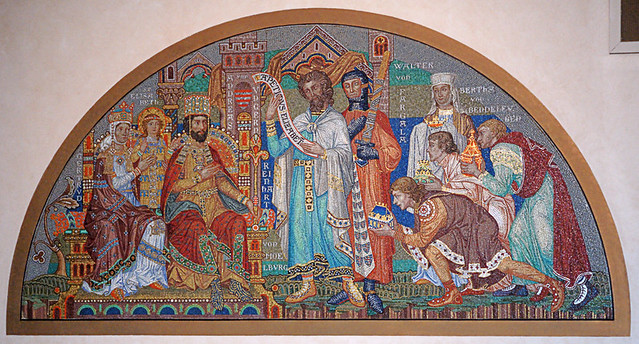 Saint Elizabeth of Hungary Roman Catholic Church, in Crestwood, Missouri, USA - mosaic