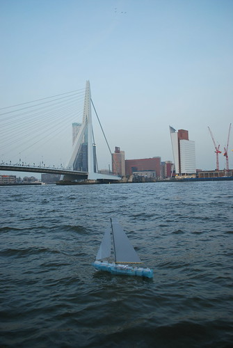 Protei 5.1 sailing in front of Rotterdam Bridge