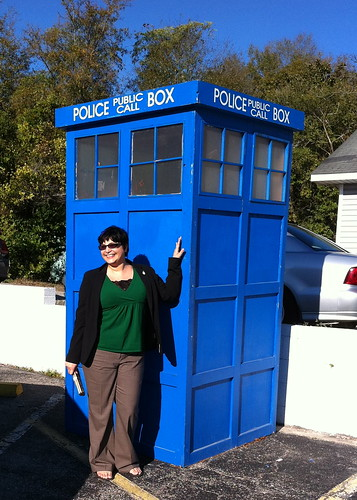 LisaDiane with the TARDIS