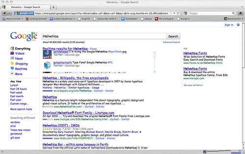 Google's helvetica april fool