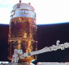 HTV2 docked to Node 1, shot from the Cupola (magisstra) Tags: 3d astronauts iss esa internationalspacestation kounotori europeanspaceagency canadarm2 paolonespoli htv2 expedition26 expedition27