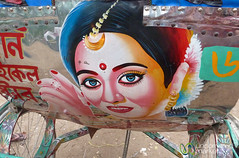 Bollywood Actresses as Rickshaw Art - Rajshahi, Bangladesh (uncorneredmarket) Tags: transport bollywood rickshaw bangladesh rickshawart rajshahi