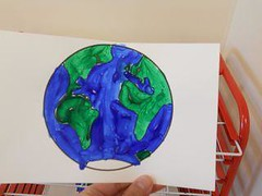 Painted Earth (Photo from My Montessori Journey)