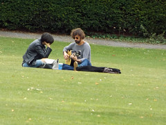 Salisbury Cathedral 2016 (Sweet Mango 1965) Tags: salisbury 2016 cathedral wiltshire couple sitting candid guitar