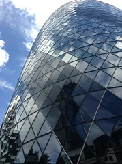 Reflect, repeat (h_savill) Tags: cloud sky reflection triangle panel pane glass architecture building gherkin 2016 summer city london