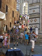 Sienna Cathedral. (jenichesney57) Tags: people sienna italy walls tables cafe steps panasoniclumix toursts
