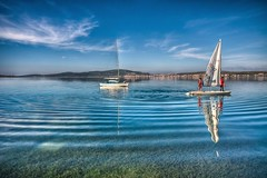Ayvalk in January,Turkey (Nejdet Duzen) Tags: trip travel sea color colour reflection turkey boat yacht trkiye sail deniz sandal yat yansma yelken turkei renk ayvalk colorphotoaward saariysqualitypictures seyhat mygearandme