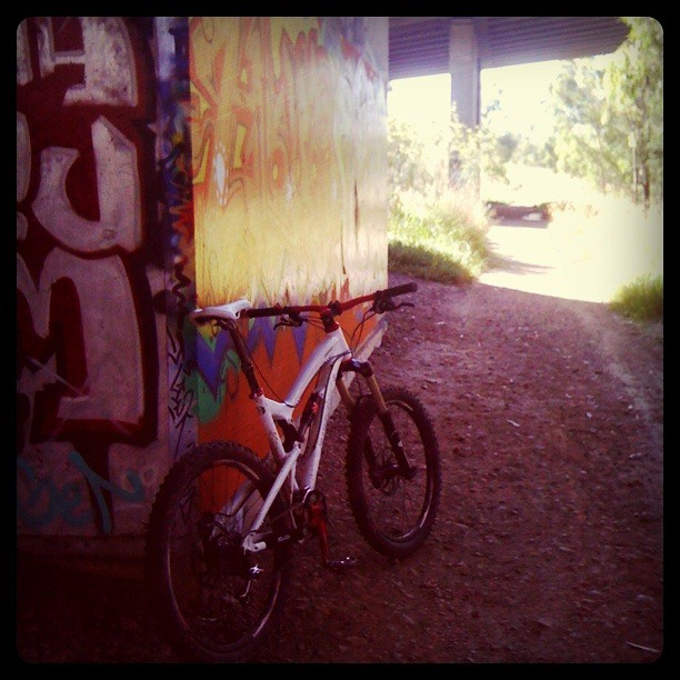 The graffiti under the Eastern Fwy's Yarra crossing