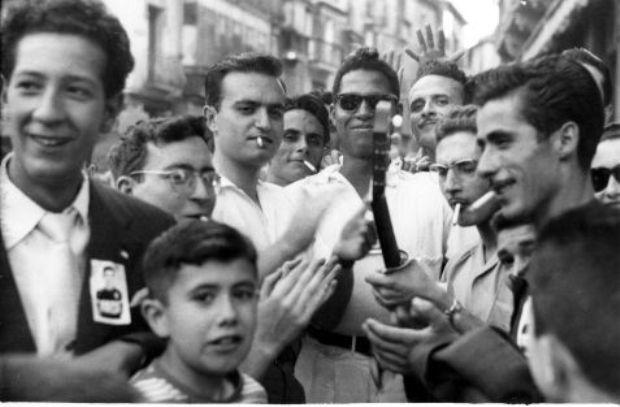 Celebración del Tour ganado por Bahamontes en agosto de 1959