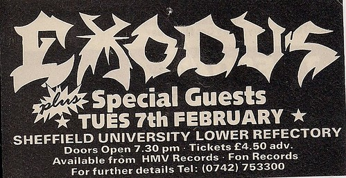02/07/?? Exodus @ Sheffield University, Sheffield, England