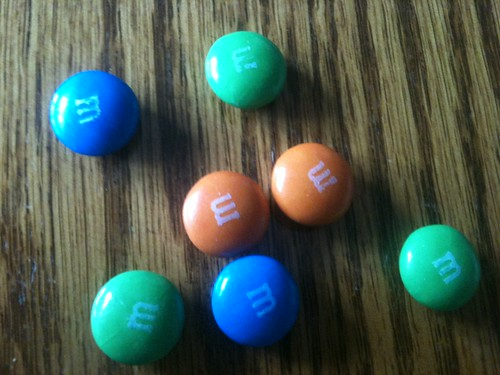 Despite it all still eating blue m&ms