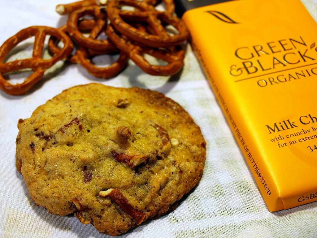 Compost Cookie with Pretzels and Chocolate