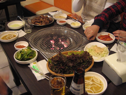 beer with Korean BBQ